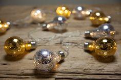 Iluminação de Natal   20 Lâmpadas LED Ouro e Prata   A Loja do Gato Preto   #alojadogatopreto   #shoponline   referência 67265915