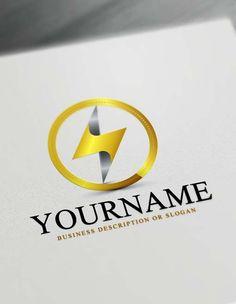 Make you own growth logo design free logo design maker design make your own power electrician logo with free logo maker solutioingenieria Gallery