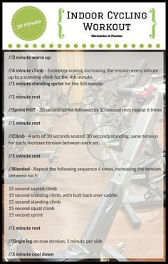 30 minute high intensity indoor cycling workout. Perfect for cross training.30 minute high intensity indoo