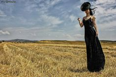 Fashion Design women 2014 black maxi dress & headpiece My photography #fashiondesign #fashionphotography