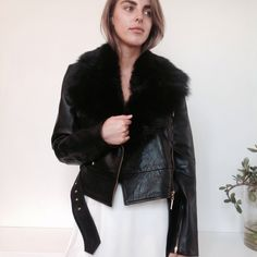 LEATHER ALWAYS | Head over heels for this Camilla & Marc leather piece, Lamb Shearling Collared Leather Jacket $1650 | just one size 10 available, collar is removable | Wish too make a purchase but can't get in store? We post Australia wide! P & H is $15 | E shop@rootsandwings.com.au or Ph 0244642811 to purchase or enquire, our new website is under construction! Stay tuned.. | #berrynsw #rootsandwingsberry #camillaandmarc