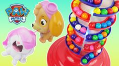 Playing with the GIANT Gumball Machine which has a Spiral Light Up Show. And Paw Patrol join us for some Dubble Bubble Candies Game and Toys Surprises. This video is for children.  Subscribe here to never miss a video: https://www.youtube.com/channel/UCsRW8ikkc-uISUXtNKBfFcw?sub_confirmation=1  Sparkle Spice is a channel where we make learning videos for preschools babies and toddlers open a lot of surprise toys for kids and toy reviews. You will find videos of Paw Patrol PJ Masks Spiderman…