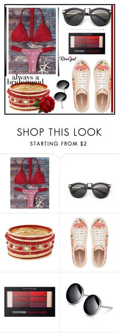 """""""Rosegal fashion set"""" by erina-salkic ❤ liked on Polyvore featuring Maybelline, fashionset, freeshipping and rosegal"""