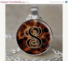 ON SALE Tortoise Monogram Necklace / by 4EverAlwaysDesigns on Etsy