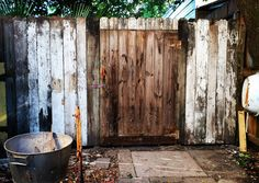 My alley gate used salvaged fence wood for creation.