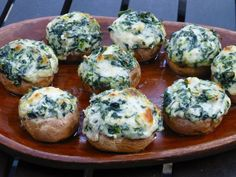Spinach Dip Stuffed Mushrooms