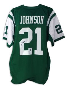 Chris Johnson New York Jets Autographed Green Jersey - APE COA e7467089c