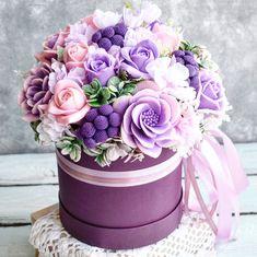 Композиция из мыла ручной работы. #artisansoap #handmadesoap #мылоручнойработы #мыломосква Beautiful Rose Flowers, Beautiful Flower Arrangements, Floral Arrangements, Flower Box Gift, Flower Boxes, Happy Birthday Flowers Wishes, Easy Homemade Gifts, Candy Flowers, Rose Soap