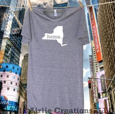 Homeland Tees #New #York #Home T Shirt - More colors available. A portion of the proceeds goes towards protecting our parks and nature areas. $21.95, via Etsy.