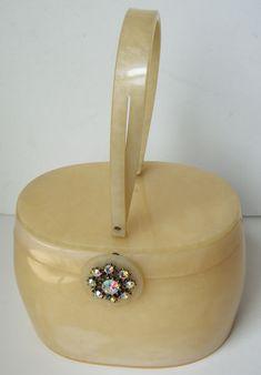 Vintage Deco Mid Century Bakelite Womens Purse on Etsy, $195.00
