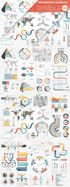 @newkoko2020 40% OFF Infographic Elements Bundle by Infographic Paradise on @creativemarket #infographic #infographics #bundle #design #template #megabundle #bigbundle #presentation #vector #business #layout #creative #graph #information #visualization