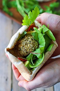 Hemp Falafel with Sunflower Seed Dip - Contentedness Cooking Vegan Protein Powder, Protein Powder Recipes, Vegan Falafel Recipe, Vegan Recipes, Delicious Recipes, Vegan Chickpea Curry, Vegan Vegetarian, Plant Based Protein, Salmon Burgers