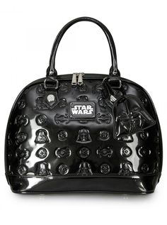 """Star Wars Darth Vader Darkside"" Patent Dome Bag by Loungefly (Black) #InkedShop #StarWars #domebag #bag #Purse #style #fashion #geekchic"