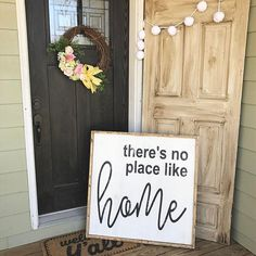 Good morning my friends!  There's no place like home.    Last night I showed you the smaller version of this sign -- well here is the large one. It is 30x30 and available in the Etsy shop ••LINK IN BIO••  Have a wonderful Wednesday!!!     #Regram via @currentlychic