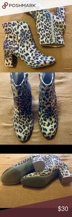 Brand New Cheetah Booties Never worn & in perfect condition!  Size 8 Charlotte Russe Shoes Ankle Boots & Booties