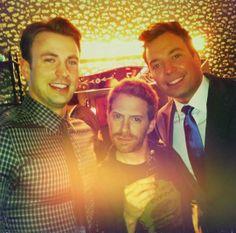 Chris Evans, Seth Green and Jimmy Fallon