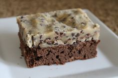 Cookie Dough Brownies (great idea but i doubt i'll ever make such elaborate brownies like the cheesecake one again)