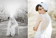 Superbe robe de mariage, belles fleurs sakura, la mariée est magnifique, dans un environnement fantastique, magnifique et incroyable!