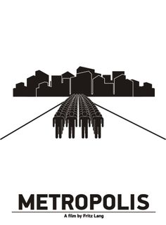 "Pictogram Movie Poster ""Metropolis"". Tribute to Viktor Hertz."