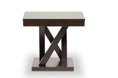 Baxton Studio Everdon Dark Brown Modern End Table | Interior Express
