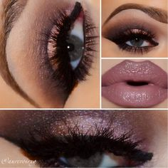 Love the lips! Mac liner in plum Mac lipstick in hot chocolate NYX gloss in sweetheart
