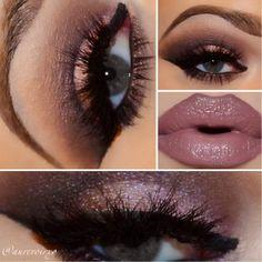 Love the lips! Mac liner in plum Mac lipstick in hit chocolate NYX gloss in sweetheart