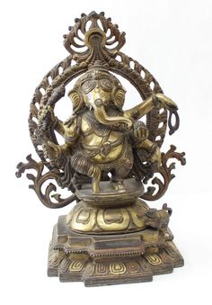 Lord Ganesh Antique Finish Statue