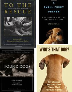 Collection of heartwarming books about dog rescue.  Really, who's saving who?  It's a win-win!