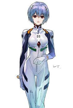 Neon Genesis Evangelion, Rei Ayanami, Mecha Anime, Best Waifu, Best Couple, Cyberpunk, Art Reference, Anime Art, Fan Art