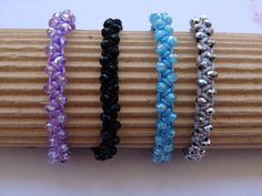 This is an izou bracelet made of faceted rondelle crystal glass beads and a synthetic cord.  You can choose between the following cord colors: black, navy blue, beige, gray, pink, fuchsia, electric blue, light blue, creme and yellow.  The size of the bracelet is adjustable to fit almost everyone.  It will arrive to you nicely gifted.  If you are interested in registered shipping please contact me for more details.
