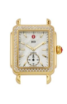 MICHELE 'Deco 16 Diamond' Gold Watch Case, 29mm x 40mm available at #Nordstrom