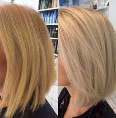 Transforming an unwanted warm Blond to abeautiful cool blonde By Thea at the klinik Farringdon