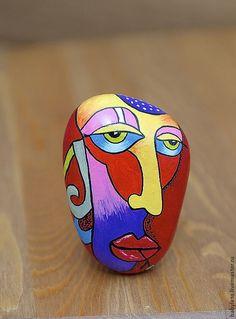 Роспись по камню ручной работы. Ярмарка Мастеров - ручная работа Маска Рисунок на камне Ручная работа. Handmade.