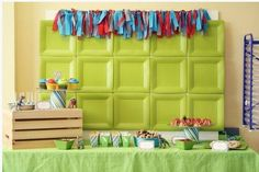 inexpensive backdrop for party