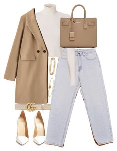 """""""Untitled #5105"""" by theeuropeancloset on Polyvore featuring Levi's, A.L.C., Yves Saint Laurent, Cartier, Gucci and Francesco Russo"""
