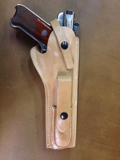 "Ruger Mk 22 III IV Leather Holster with Magazine Pouch for 6 7/8"" Barrel - Mark #gunholster"