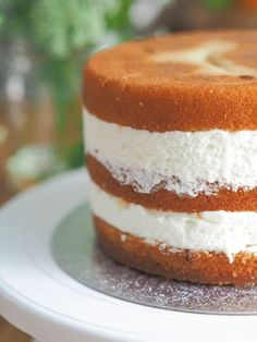 Leivonta - Kakkupohja - Vaniljakakkupohja Food Tasting, Different Cakes, Desert Recipes, Let Them Eat Cake, I Love Food, Yummy Cakes, No Bake Cake, How To Make Cake, Cake Recipes