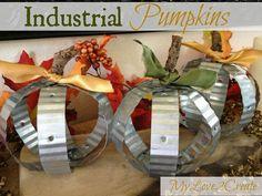 DIY Industrial Pumpkins for Fall!
