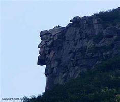 The Old Man of the Mountain, on Cannon Mountain, in the White Mountains of NH.