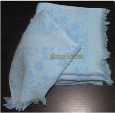 Полотенце с бахромой Isabel ARYA голубое. Купить полотенца голубого цвета Blue - в Киеве