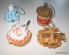 Altri dolcetti ornamentali natalizi ....other Xmas ornamental cupcakes.... http://www.etsy.com/shop/EcoGioiePerilmondo