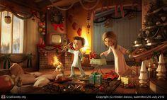 CGTalk - Christmas morning, Kleber darcio (3D)