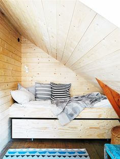 Wooden attic bedroom