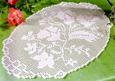 crochet em revista: Naperon\                             a