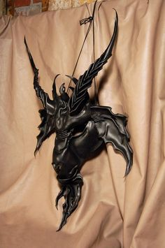 Leather mask of Satan, Mephistopheles, Lucifer, Beelzebub, Baphomet, Goat of Mendes, Pan, the Devil on Etsy, $350.00