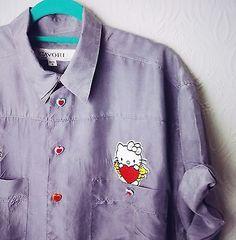 a2ecee28 Vintage Lazy Oaf HELLO KITTY Kawaii Outfitters VTG Blouse Harajuku S M L