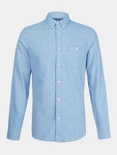 Long Sleeve Blue Twill Shirt