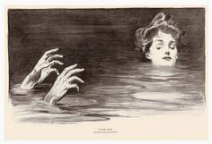 """In the Swim"" Charles Dana Gibson (1876-1944)"