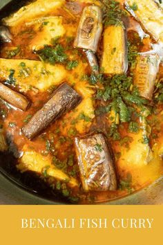 Authentic Bengali fish curry. A taste of home! If you like a fish curry then this is a proper Bengali style fish curry, perfectly cooked fish in the most balanced of spices cooked with sauteed eggplant. The perfect curry with steamed white rice. A nice and easy to follow recipe! #BengaliFishCuryy #FishCurryRecipe #FishGravy #MacherJhol Lunch Recipes, Easy Dinner Recipes, Easy Meals, Cooking Recipes, Easy Delicious Recipes, Delicious Food, Tasty, Bengali Fish Curry