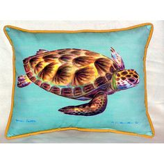 "Sea Turtle 24"" Indoor/Outdoor Lumbar Pillow"